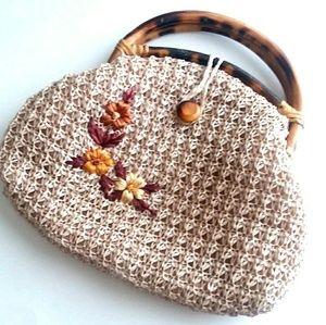 Vintage Embroidered Bohemian Top Handle Bag